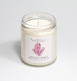 Amethyst Crystal Candle - Spiritual Growth & Healing - 9 oz.