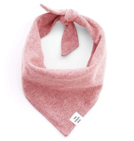 Heathered Cranberry Flannel Bandana - Large
