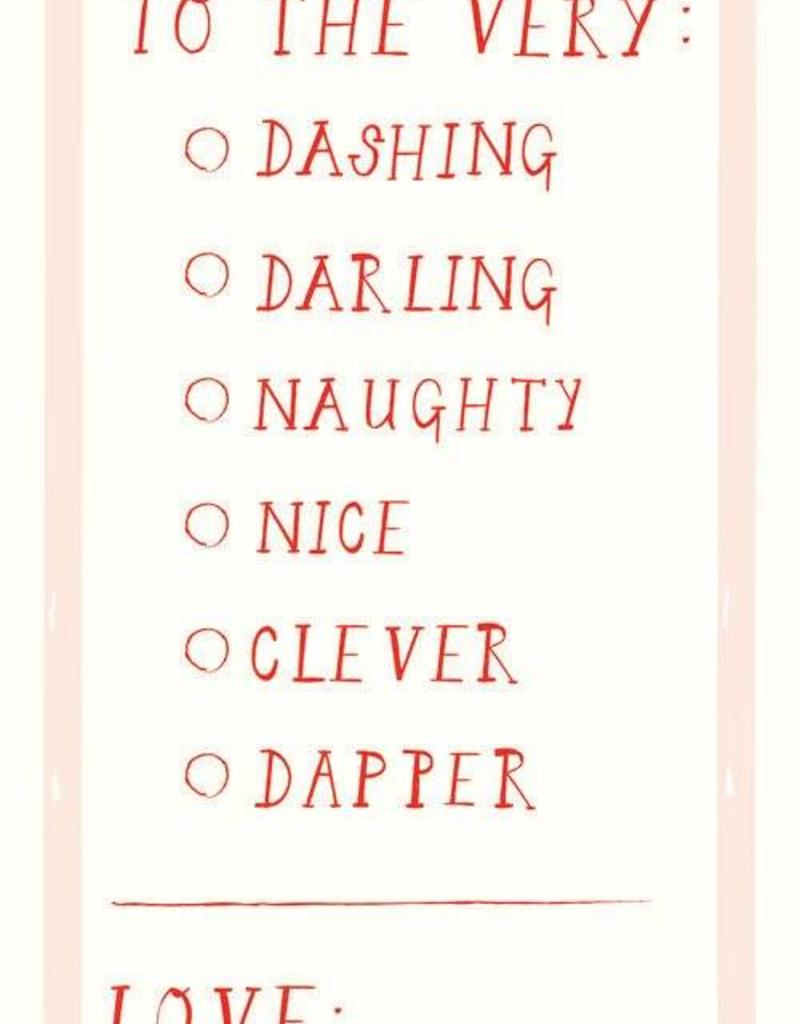 To the Very Dashing Gift Tags - Set of 6