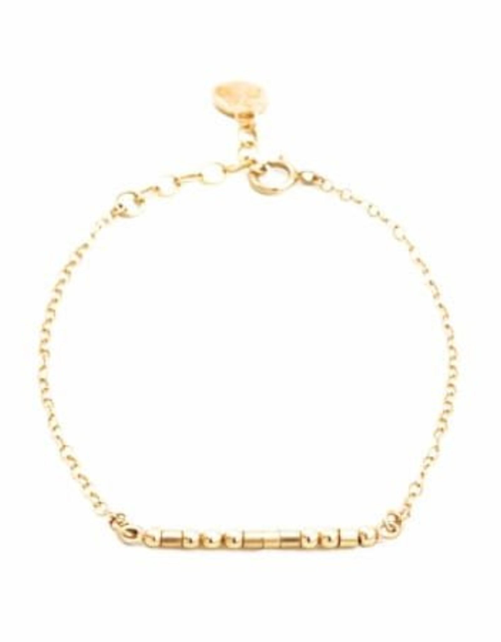 Forever Morse Code Bracelet - Gold Filled