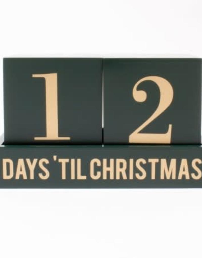 30 Day Countdown Calendar - Green