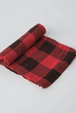 Cotton Muslin Swaddle Single - Red Plaid