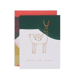 Reindeer Peace Card