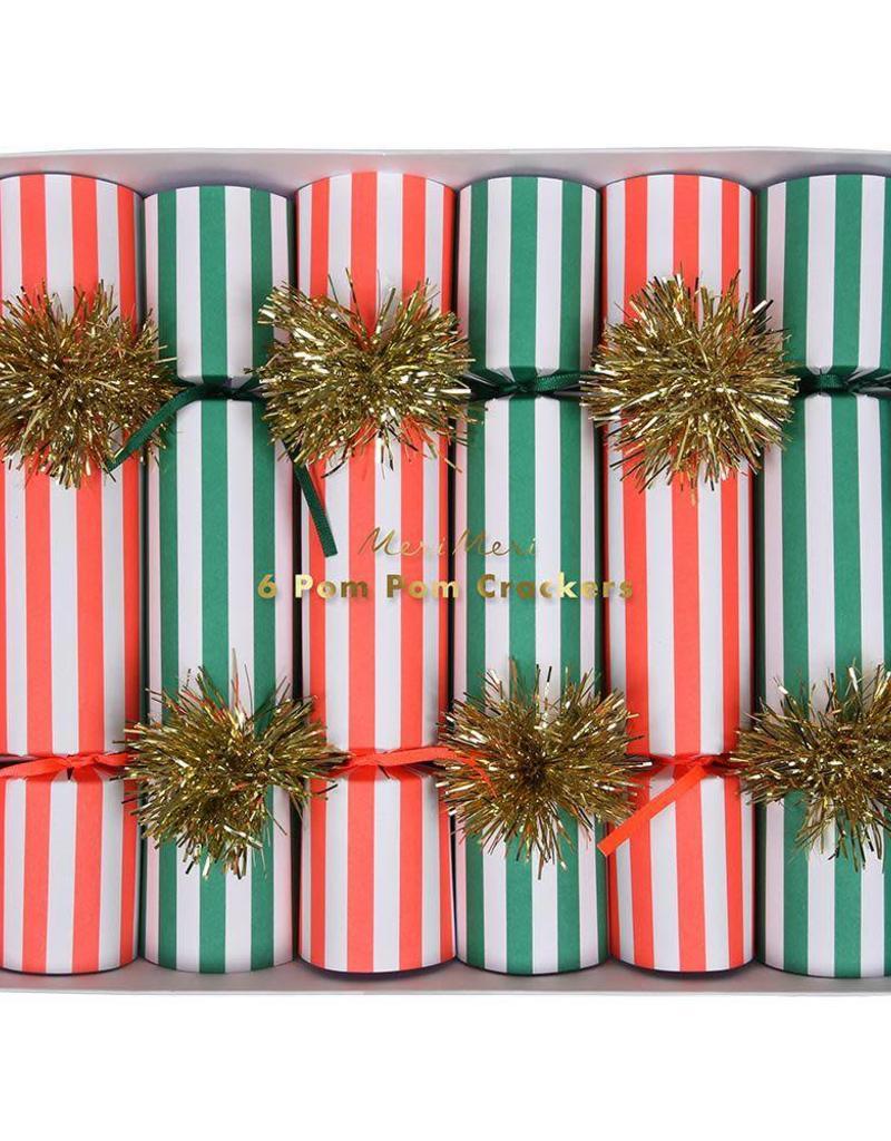 Stripy Pompom Crackers - Medium