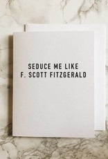 F. Scott Fitzgerald Hemingway Notecard