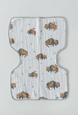 Cotton Muslin Burp Cloth - Bison