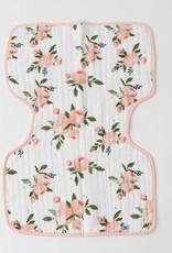 Cotton Muslin Burp Cloth - Watercolor Roses
