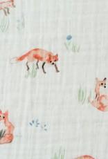 Cotton Muslin Swaddle Single - Fox