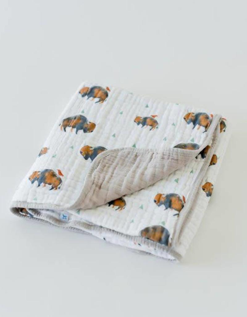 Cotton Muslin Quilt - Bison