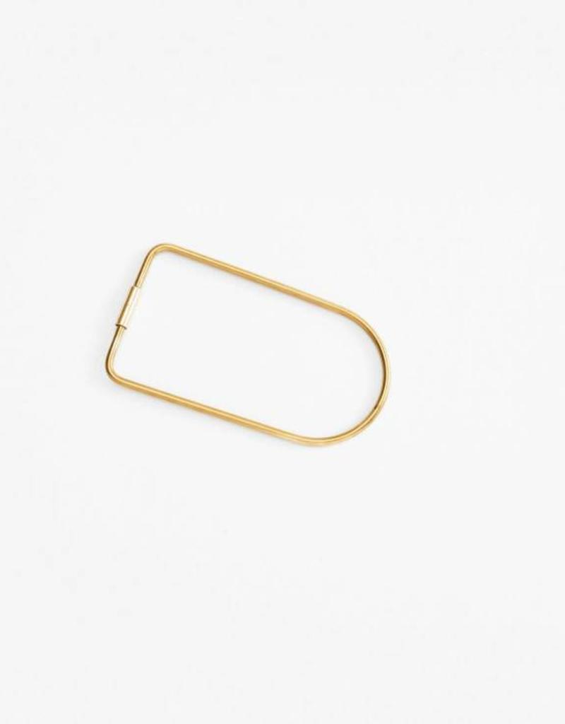 Bend Key Ring - Brass