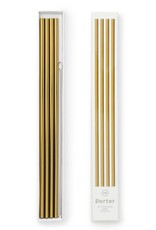 """10"""" Gold Metal Straws - Set of 4 with Cleaner"""