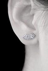Fan Stud Earrings
