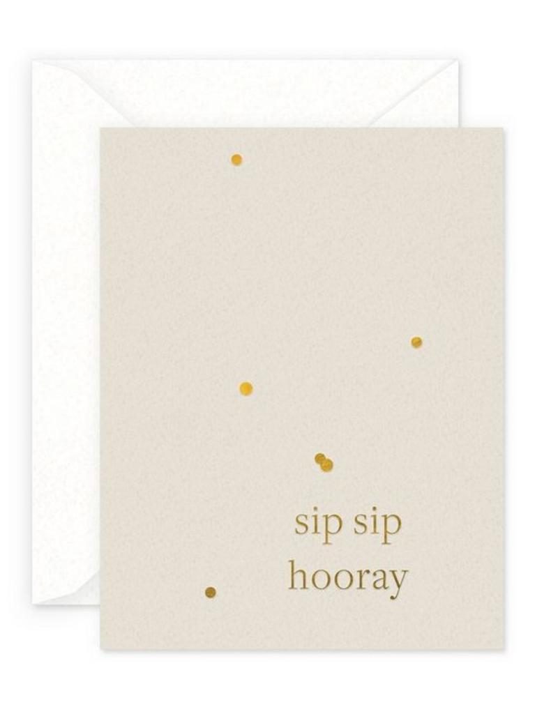 Sip Sip Horray Confetti Card