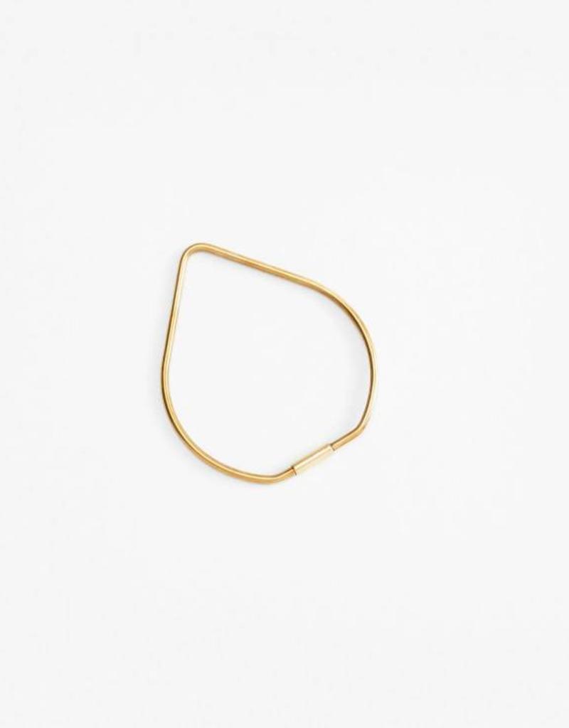 Drop Key Ring - Brass