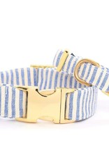 French Blue Stripe Dog Collar