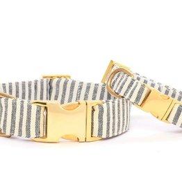 Charcoal Stripe Dog Collar - S