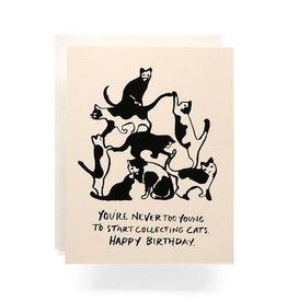 Cat Tower Birthday Card