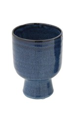 Blue Reactive Glaze Stoneware Vase