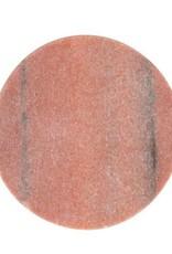 "4"" Round Rose Marble Coasters - Set of 4"