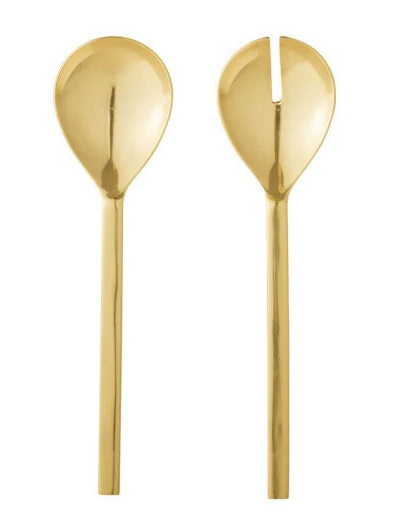 Gold FInish Stainless Steel Salad Servers