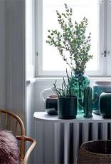 Marbled Blue Aluminum Flower Pot