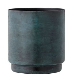 Marbled Blue Aluminum Flower Pot