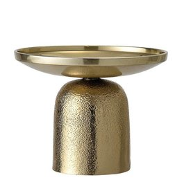 Gold Cast Aluminum Candle Holder