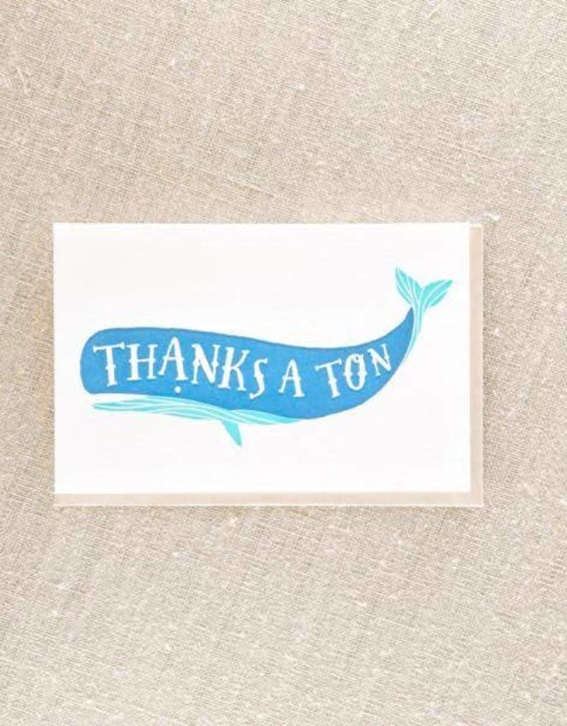 Thanks a Ton Whale Card