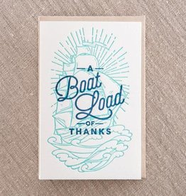 Boatload of Thanks Card
