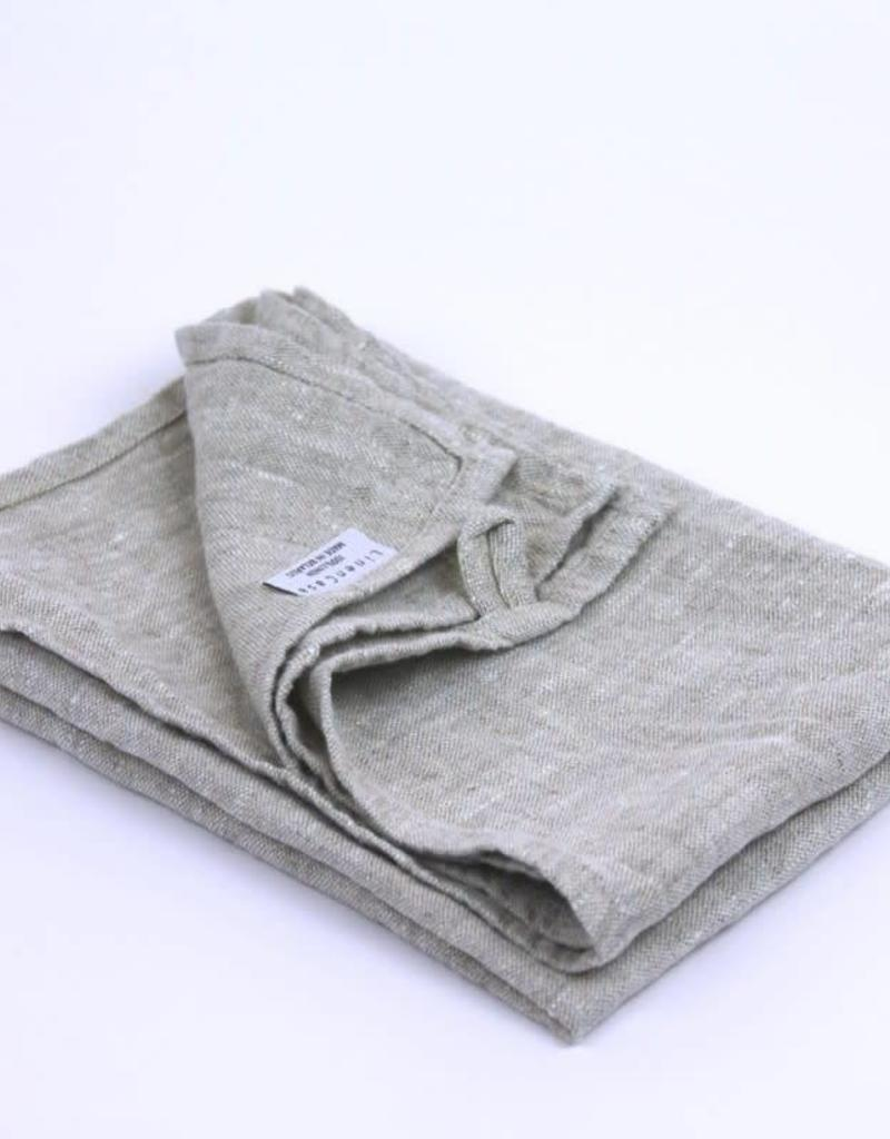 Stonewashed Linen Hand Towel - Light Natural