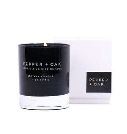 Pepper + Oak Candle