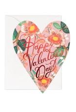 Heart Blossom Valentine Card