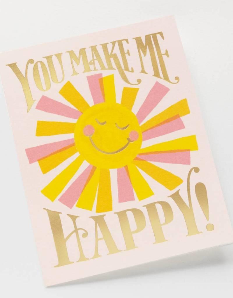 You Make Me Happy Sunshine Card