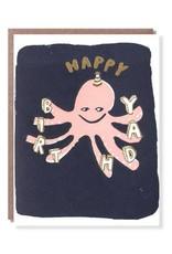 Octopus Birthday Card