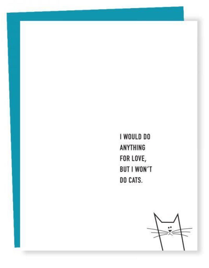 Won't Do Cats Card