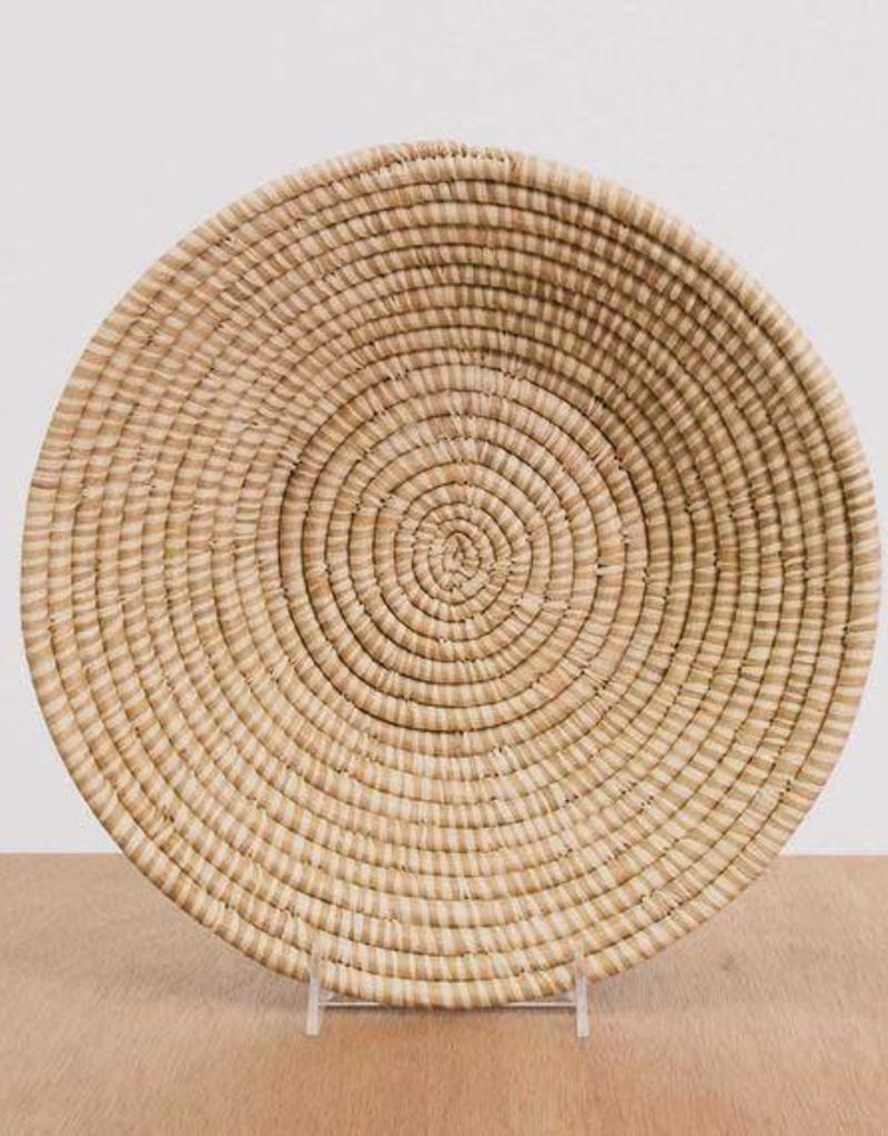 Heathered Soft Gold Large Raffia Bowl