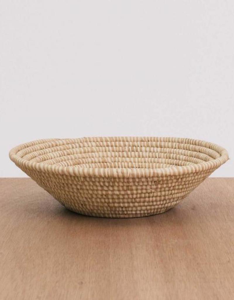 Heathered Soft Gold Large Raffia Bowl