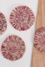 Fringed Rosette Coasters - Set of 4