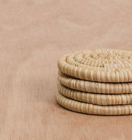 Heathered Soft Gold Coasters - Set of 4