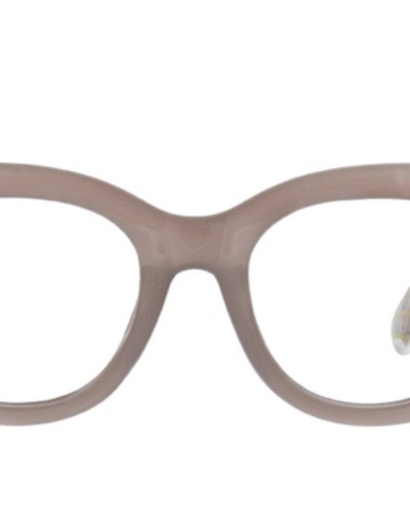 Center Stage Luxe Blue Light Glasses - Gray/Marble