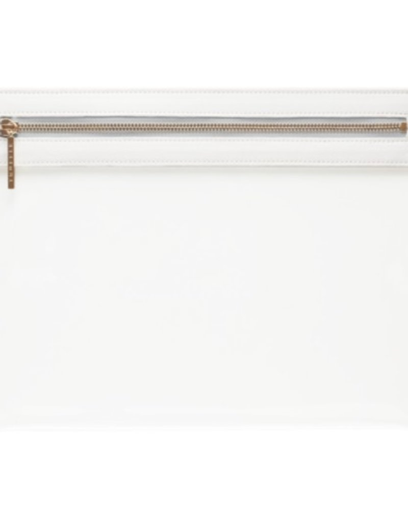 Clarity Clutch Large - White