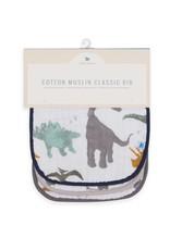 Cotton Muslin Classic Bib 3 Pack - Dino Set