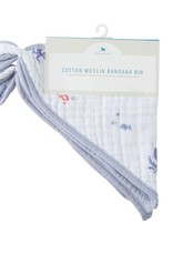 Cotton Muslin Bandana Bib 2 pack - Mermaid Set