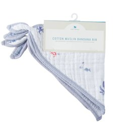 Cotton Muslin Bandana Bib 2 pack - Mermaid Set