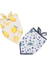 Cotton Muslin Bandana Bib 2 pack - Berry Lemonade