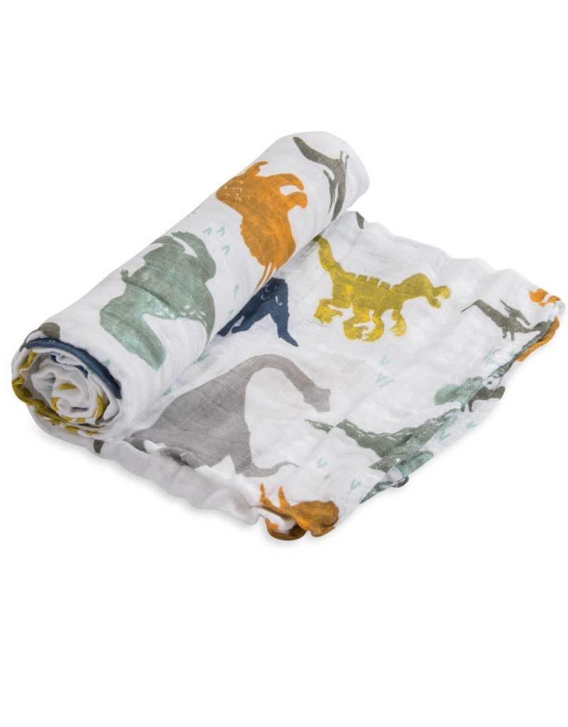 Cotton Muslin Swaddle Single - Dino Friends