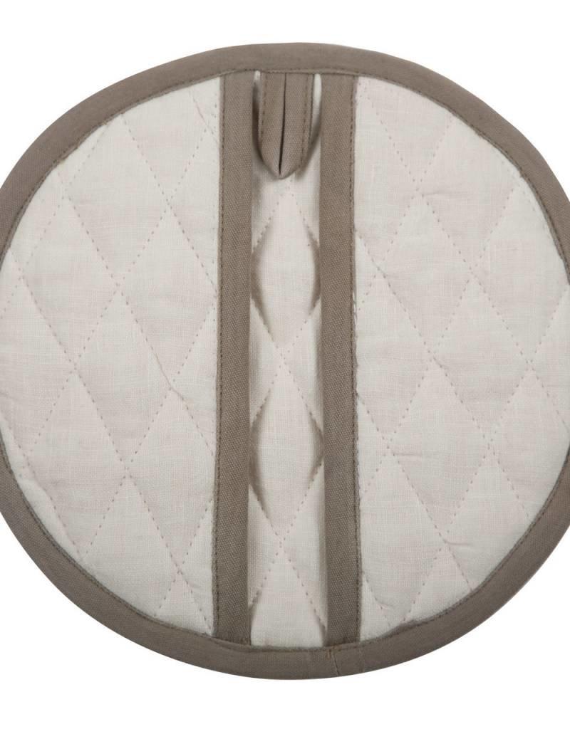 Linen Kitchen Mitt - Oyster White