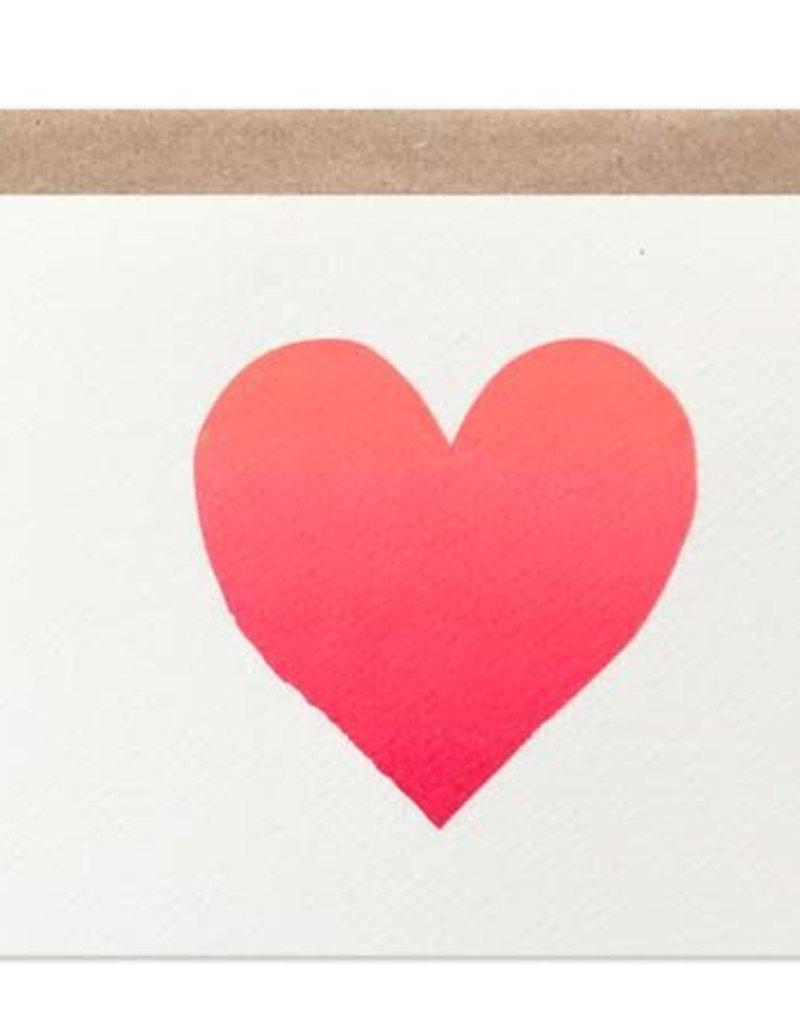 Neon Ombre Heart Card
