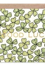 Good Luck Shamrock Card