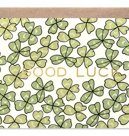 Good Luck Shamrock Card